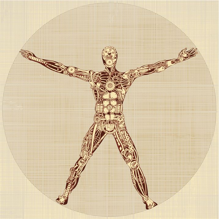 The Vitruvian Man. Remake of Leonardo da Vinci's drawing. v1.0